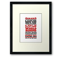 Jumanji's Rules Framed Print