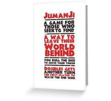 Jumanji's Rules Greeting Card