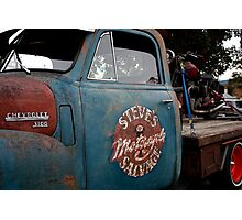 Steve's Motorcycle Salvage Photographic Print