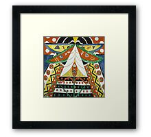 Marsden Hartley - Painting No. 50. Abstract painting: abstract art, geometric, expressionism, composition, lines, forms, creative fusion, spot, shape, illusion, fantasy future Framed Print