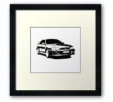 Subaru STI 22B - Solid Black Framed Print