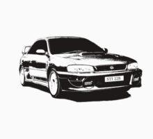Subaru STI 22B - Solid Black One Piece - Short Sleeve