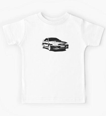 Subaru STI 22B - Solid Black Kids Tee