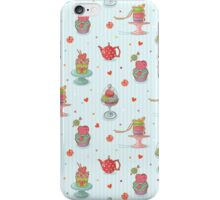 Cupcake seamless pattern iPhone Case/Skin