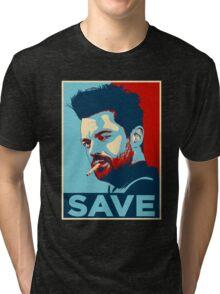 JESSE CUSTER SAVE Tri-blend T-Shirt