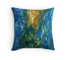 Green, Blue & Yellow Throw Pillow