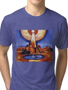 Marsden Hartley - Yliaster (Paracelsus). Abstract painting: abstract art, geometric, expressionism, composition, lines, forms, creative fusion, spot, shape, illusion, fantasy future Tri-blend T-Shirt