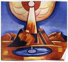Marsden Hartley - Yliaster (Paracelsus). Abstract painting: abstract art, geometric, expressionism, composition, lines, forms, creative fusion, spot, shape, illusion, fantasy future Poster