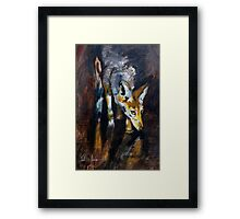 Jackal on the Prowl Framed Print