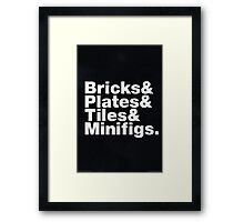 Brick Steez: Bricks&... (On Dark Colors) Framed Print