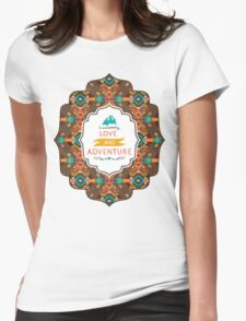 Native american seamless tribal pattern with geometric elements Womens Fitted T-Shirt