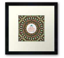 Navajo colorful  tribal pattern with geometric elements Framed Print