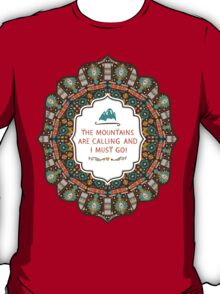 Navajo colorful  tribal pattern with geometric elements T-Shirt