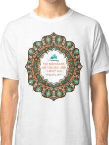 Navajo colorful  tribal pattern with geometric elements Classic T-Shirt