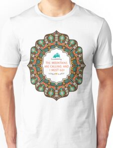 Navajo colorful  tribal pattern with geometric elements Unisex T-Shirt