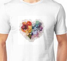 Heart Art - Gemstone Heart Art By BethKaya Unisex T-Shirt
