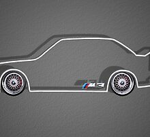 e30 m3 silhouette  by BGWdesigns