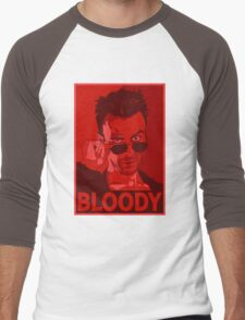 CASSIDY BLOODY RED Men's Baseball ¾ T-Shirt