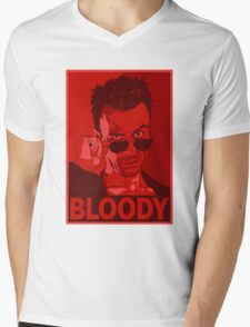 CASSIDY BLOODY RED Mens V-Neck T-Shirt