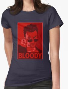 CASSIDY BLOODY RED Womens Fitted T-Shirt
