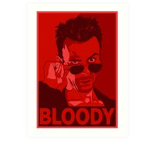 CASSIDY BLOODY RED Art Print