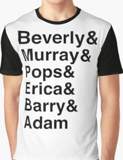 The Goldbergs Character List Helvetica Graphic T-Shirt