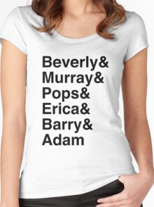 The Goldbergs Character List Helvetica Women's Fitted Scoop T-Shirt