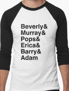 The Goldbergs Character List Helvetica Men's Baseball ¾ T-Shirt