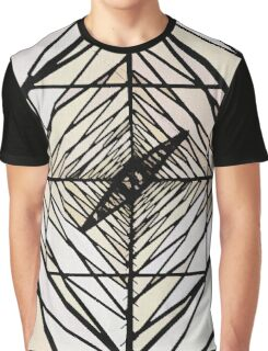 Line Art Surreal Tunnel Graphic T-Shirt