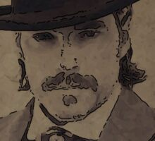 Doc Holliday Portrait - Wynonna Earp Sticker