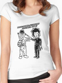 Ec & Fred Scissors Contest Women's Fitted Scoop T-Shirt