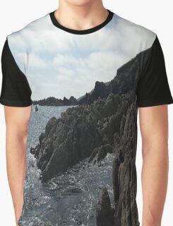 Ballycotton Rocks, Co. Cork, Ireland Graphic T-Shirt