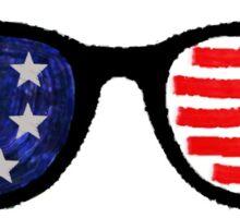 Patriotic Sunglasses Sticker