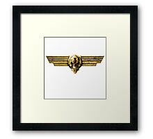 Imperial Skull & Wings - Gold Framed Print