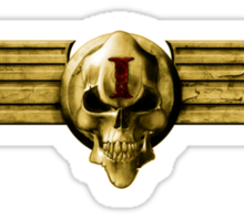 Imperial Skull & Wings - Gold Sticker
