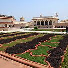 The Red Fort Palace Gardens, Agra. by John Dalkin
