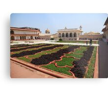 The Red Fort Palace Gardens, Agra. Metal Print