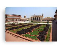 The Red Fort Palace Gardens, Agra. Canvas Print
