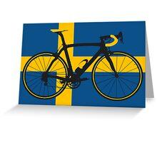 Bike Flag Sweden (Big - Highlight) Greeting Card