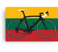Bike Flag Lithuania (Big - Highlight) Canvas Print