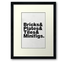 Brick Steez: Bricks&... (On Light Colors) Framed Print