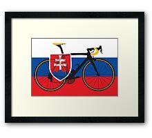 Bike Flag Slovakia (Big - Highlight) Framed Print