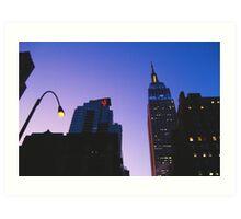 New york at dusk Art Print