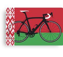 Bike Flag Belarus (Big - Highlight)  Canvas Print