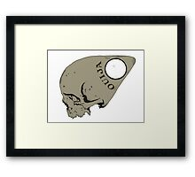 Ouija Skull Framed Print