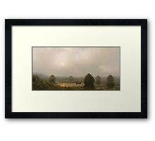 Martin Johnson Heade - The Great Swamp 1868. Field landscape: field landscape, nature, village, garden, flowers, trees, sun, rustic, countryside, sky and clouds, summer Framed Print