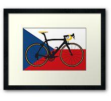 Bike Flag Czech Republic (Big - Highlight) Framed Print