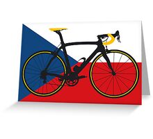 Bike Flag Czech Republic (Big - Highlight) Greeting Card