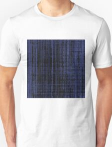 Line Art Dark Blue Matrix Unisex T-Shirt