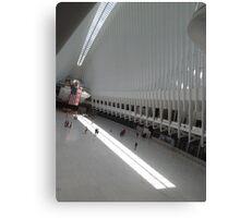 Sunlight and Shadows, World Trade Center Transit Hub Oculus, Lower Manhattan, New York City Canvas Print